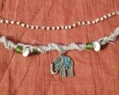 Bohemian Elephant Charm Necklace