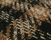 Brown Black Textured Check Woven Tweed Coat fabric wool blend - Sold by the metre UK SELLER