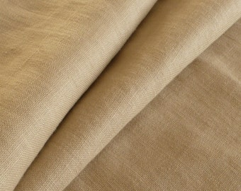 Natural Stone Colour Washed 100% Linen Heavy Weight Fabric 260gsm 140cm wide - Sold by the metre