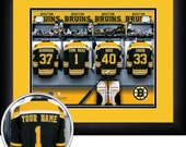 PERSONALIZED & FRAMED NHL Boston Bruins Sports Print