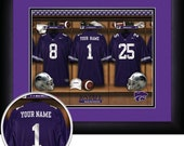 PERSONALIZED & FRAMED Officially Licensed Kansas State Wildcats Football Sports Print