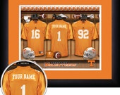 PERSONALIZED & FRAMED Officially Licensed Tennessee Volunteers Football Sports Print