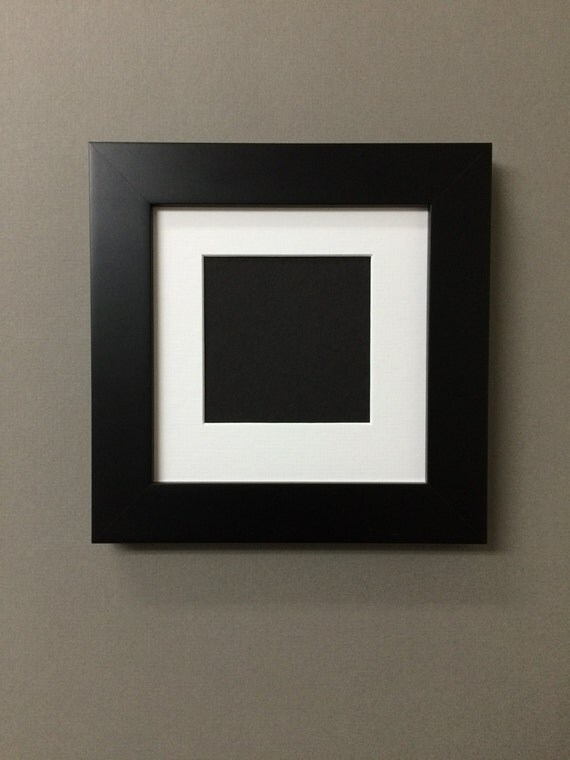 6x6 Square Black Picture Frame With Mat 3 25x3 25 Perfect For