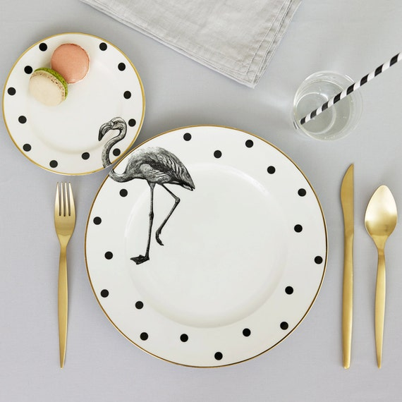 Fancy flamingo palte set