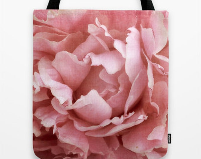 Peony 5 Photo Tote Bag, Tote Bag, Photo Tote, Photo Bag, Flower Tote