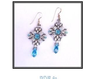 Little Cairo Earrings- Beaded earring tutorial PDF
