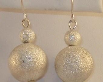 Silver Dangle Earrings with silver hooks
