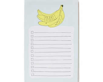 Banana Market List Notepad