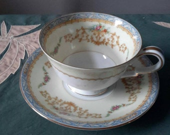 Noritake Sylvia Tea Cup and Saucer in Mint Condition