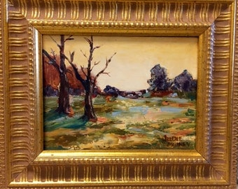 "ORIGINAL OIL PAINTING ""Forest Study"" Colorful Landscape  By Artist Judie Mulkey"