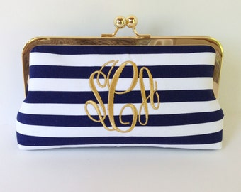Personalized  bridesmaid  clutch, brides clutch, monogrammed clutch , wedding clutch, personalized wedding, monogrammed purse