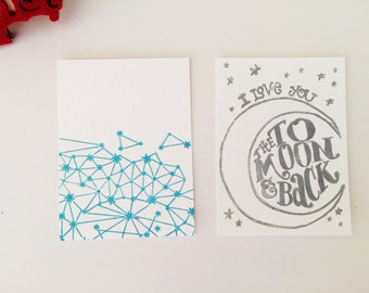 Constellation/ Love You to the Moon & Back Cards