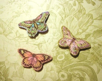 One Hand - Painted Tapestry Butterfly Pillow - One of Three Choices - Jill Dianne - Dollhouse Miniature