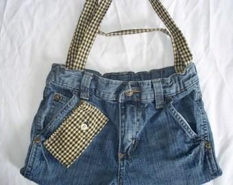 DENIM PURSE - re-purposed kids jeans