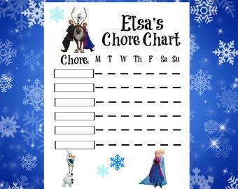 Frozen Movie Chore Charts