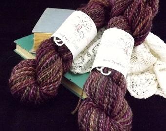 Handspun Wool Paint Merino in Merlot