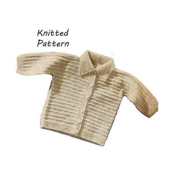 Infant Reverse Ridge Stitch Sweater Knitting Pattern ||Vintage 1960's || Reproduction Printed Pattern 6023-60