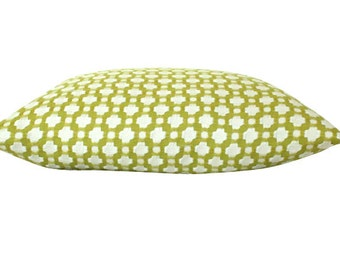 Both Sides- Chartreuse Betwixt Schumacher Pillow Cover