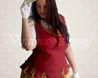 18th century corset for historic reenactment, theater clothing and fantasy
