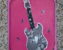 Electric Guitar Iris-Folded Card