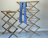 Jumbo Clothes Drying Rack Made of Wood
