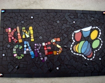 Custom Mosaic Business Logo Plaque Brand Advert Wall Hanging Art sign