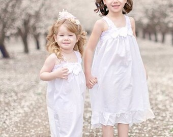 Custom Cotton Girls Gown