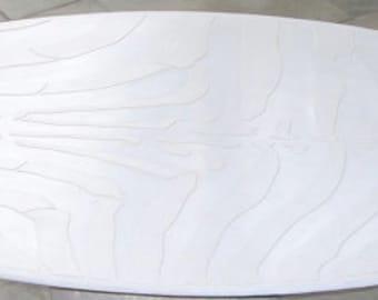 White Concrete Zebra Table Top