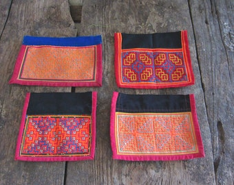 Hmong Vintage Fabric Hmong Fabric hand embroidered fabric A4 Hill tribe Fabric Chinese Hmong Fabric Vintage tribal fabric Ethnic fabric