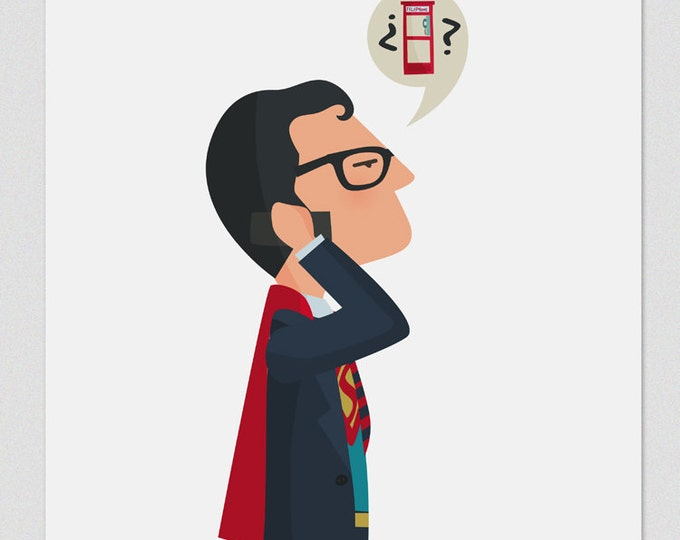 """Ilustración """"Superman"""""""