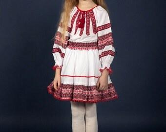 Ukrainian Children's costume embroidery.  Blouse, skirt for girls. Vyshyvanka. Ukrainian children's suit.  Ukrainian Girls' Clothing