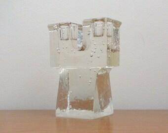 Vintage Dansk Glass Candle Holder