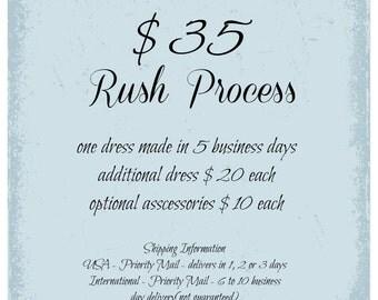 Rush Process Dress, 5 Business Days, First Dress