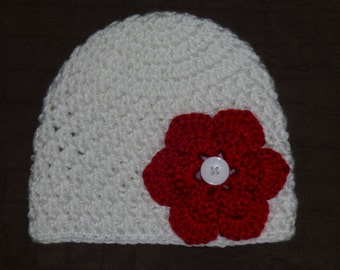 6 to 12 Month Hat w/ Removable Flowers