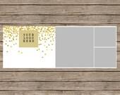 Golden Glitter Polka Dot Facebook Timeline Template or Blog Header