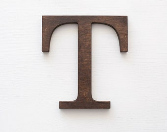 Wooden letter, vintage letters for wall, classic font