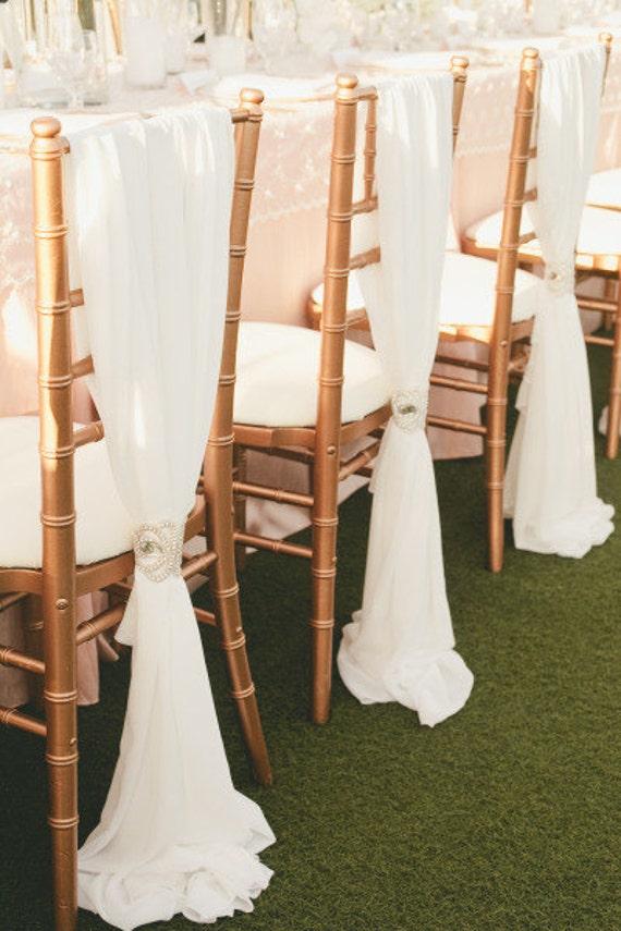 Romantic Chiffon Drape Chair Sash