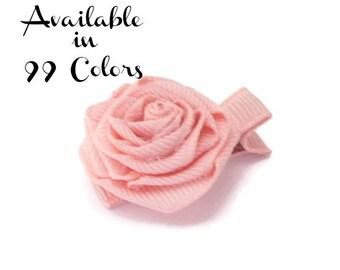 Flower Hair Clip, Adult Hair Accessories, Girls Hairclips, Rosette Hair Clip,Toddler Hair Clip,Hair Bow, Hair Accessories