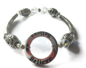 Believe Bracelet, Inspiring Bracelet, Uplifting Jewelry, Christian Bracelet, Believe Jewelry