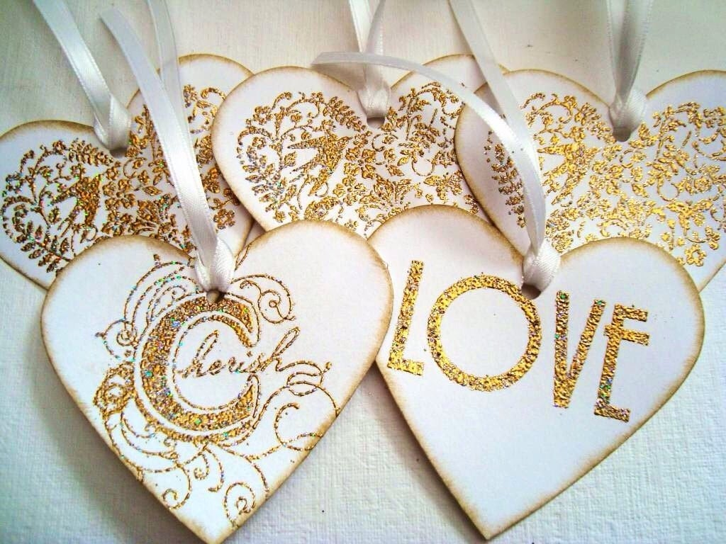 Wedding Gift tags: Stampin Up Wedding Heart Gift tags