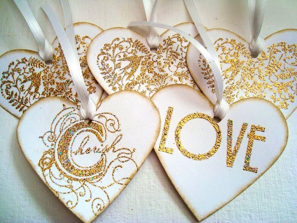 Wedding Heart Gift Tags : Wedding Gift tags: Stampin Up Wedding Heart Gift tags