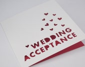 Wedding Acceptance heart card