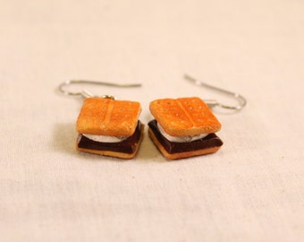 Smores' Earrings Polymer Clay Food Jewelry