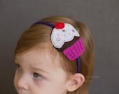 Strawberry shortcake felt headband/hair clip