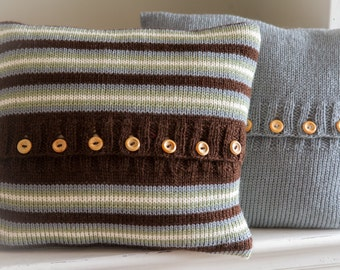 Knitting Pattern, DIY Instructions - Sophie Aran Cushion Cover