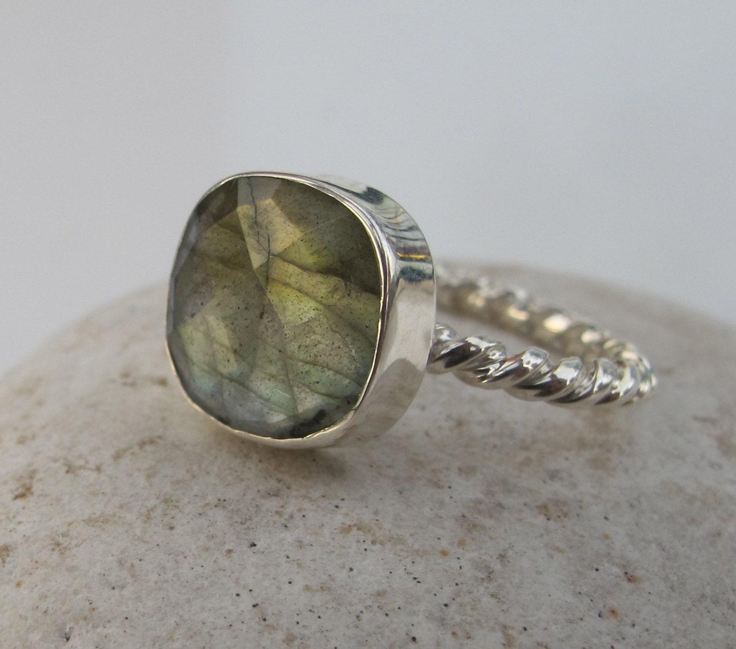 labradorite silver ring stack ring stack ring by belesas