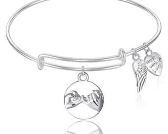 Friendship Expandable Wire Bangle Bracelet  GIFT BOXED