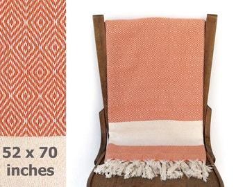 Blanket Handwoven Cotton Throw X Large Turkish Towel Peshtemal Turkish Bath Towel Sofa Cover