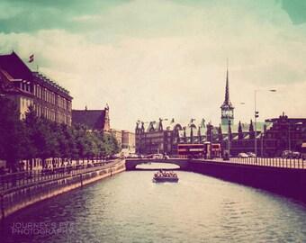 Copenhagen - Denmark photograph, landscape photo, fine art, travel photography, Scandinavia, retro