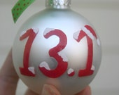 13.1 Half Marathon runner ornament hand painted